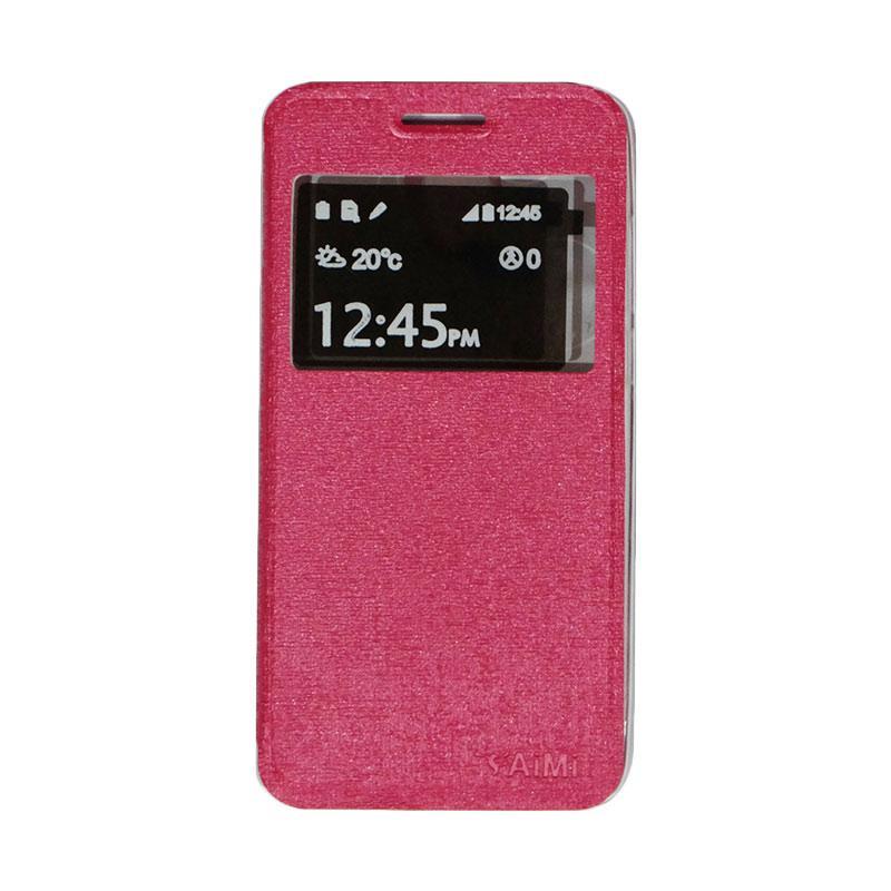Aimi Flip Cover Casing for Smartfren Andromax L - Pink