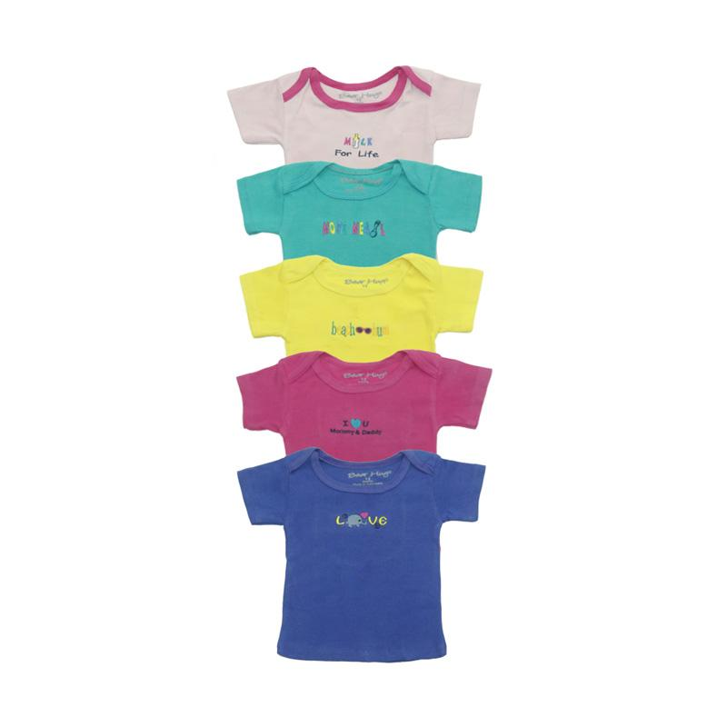 Bearhug 5-Piece Top For Baby Girl Kaos Anak - Multicolour [5 pcs]