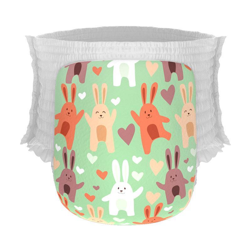 Happy Diapers Dancing Bunnies [Size M/30 pcs/A17]