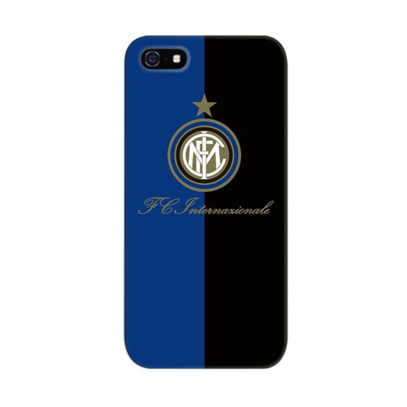 Indocustomcase Inter Milan FC Case Cover Casing for iPhone 5/5S/SE