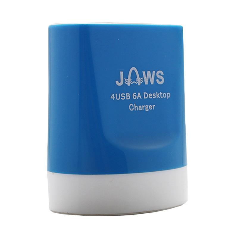 Jaws Fast Charging Desktop Charger - Biru [4 USB/6.0 Ampere]