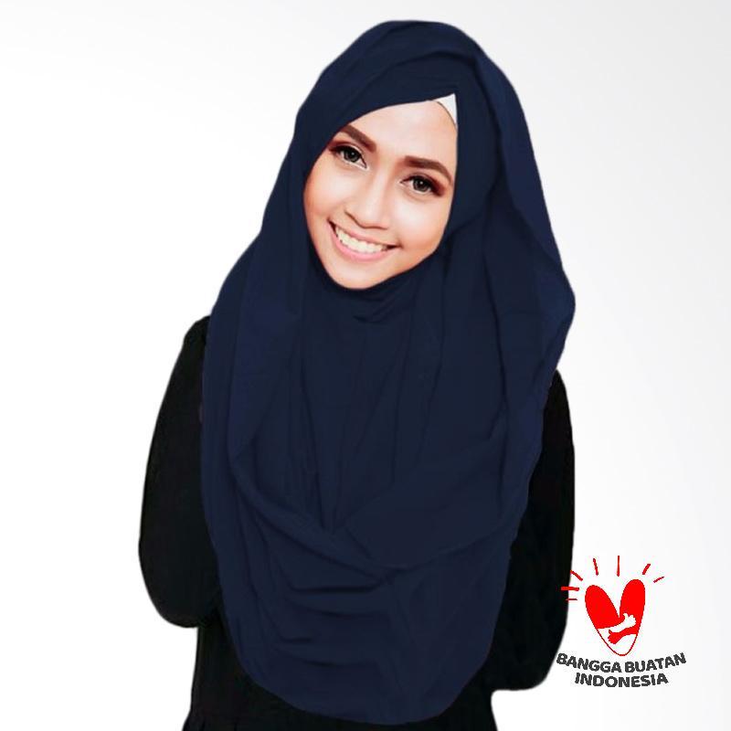 Milyarda Hijab Shiren Kerut Jilbab Instant - Navy
