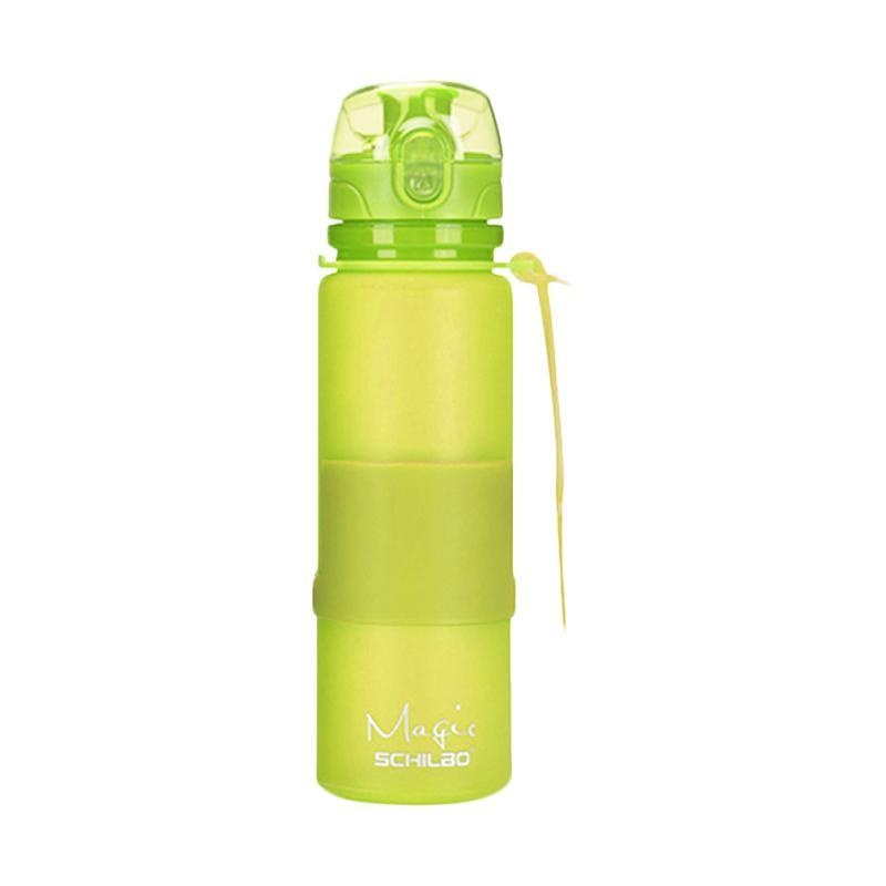 Nomuri  Botol Air Tutup Transparan - Hijau [650ml]