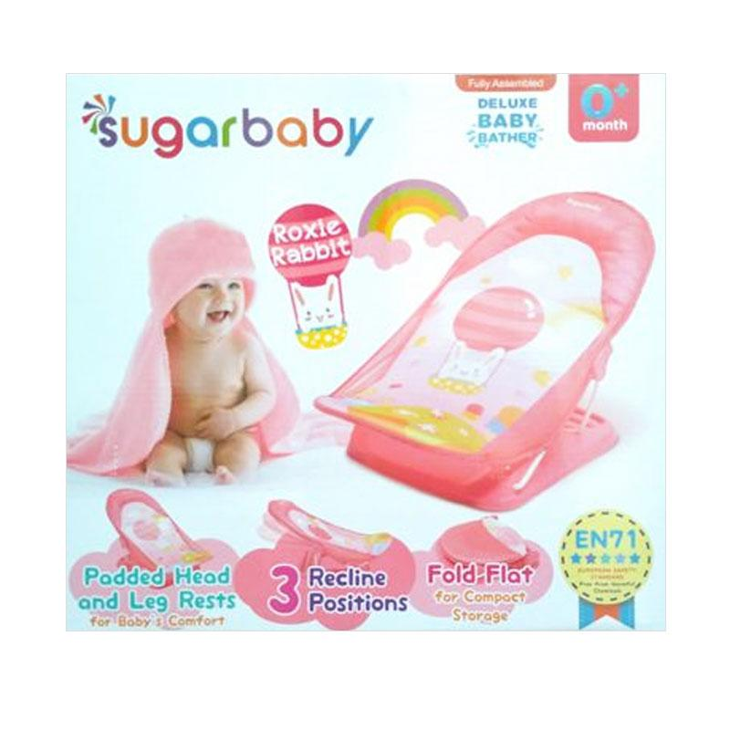 Sugar Baby Roxie Rabbit Deluxe Baby Bather - Pink