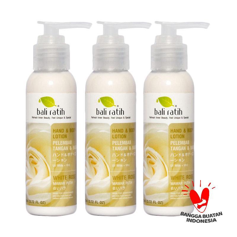 Bali Ratih Paket Body Lotion - White Rose [110 mL/3 pcs]