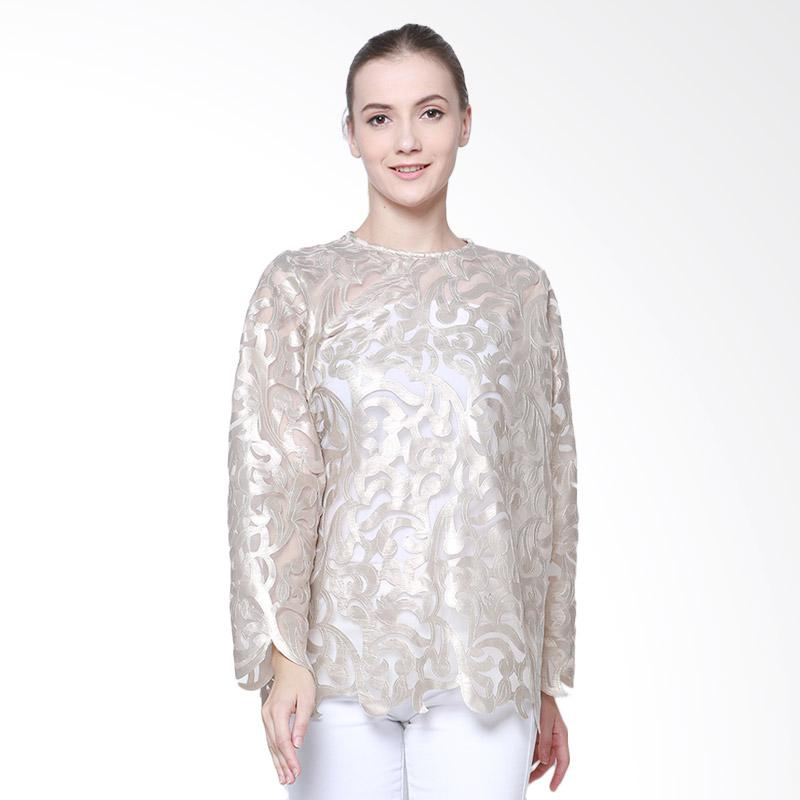 Delarosa Raya With Unieq Texture Blouse - Gold