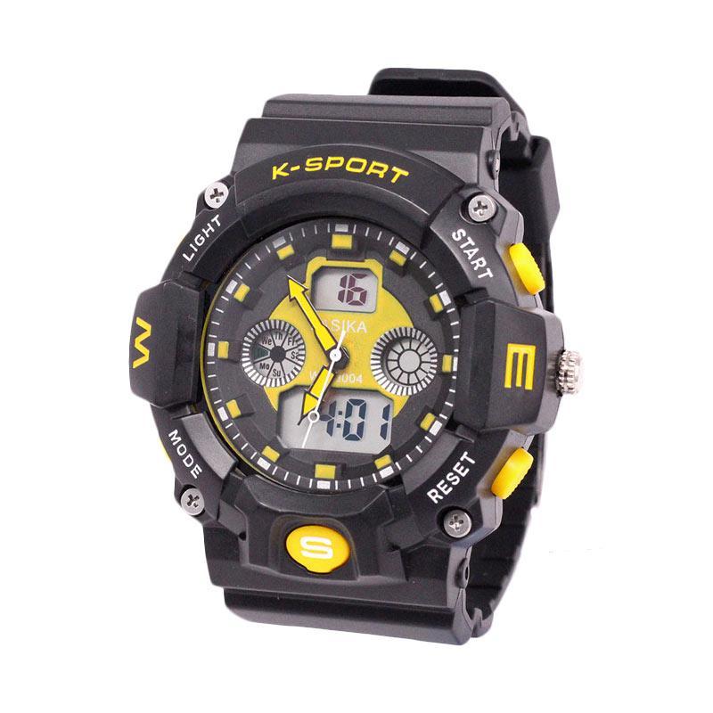 Lasika Digital Analog W-H 9004 Jam Tangan Unisex - Yellow
