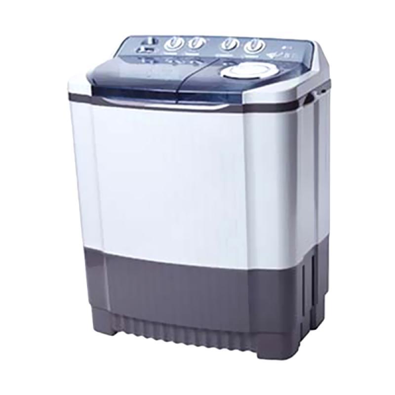 LG P905R Semi Auto Washer Twin Tub Mesin Cuci - Putih [9 kg]