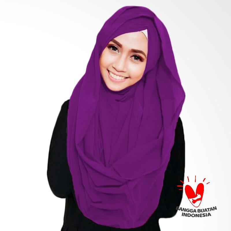 Milyarda Hijab Shiren Kerut Jilbab Instant - Ungu