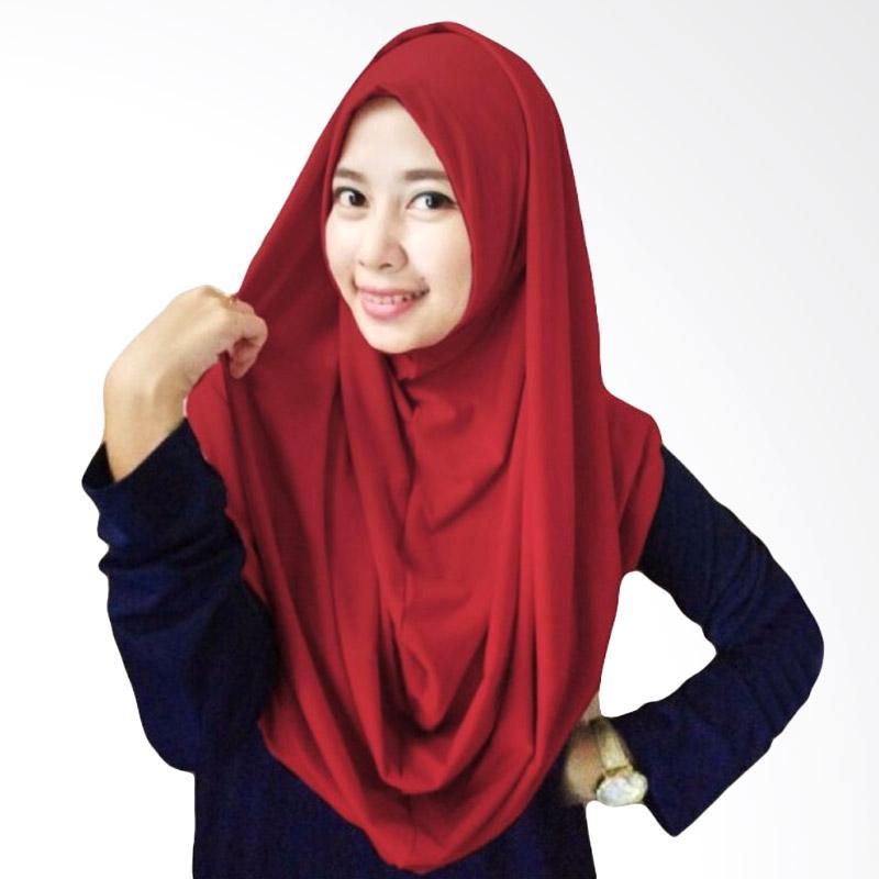 Milyarda Hijab Long Syria Kerudung - Maroon