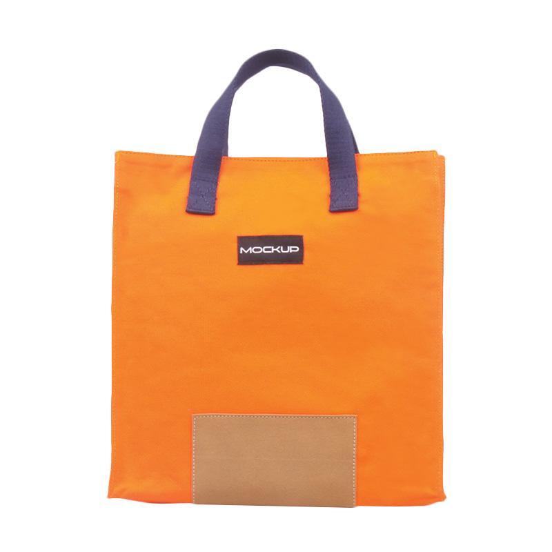 Mockup Mini Tote Bag BGO-12 Tas Unisex - Orange Navy