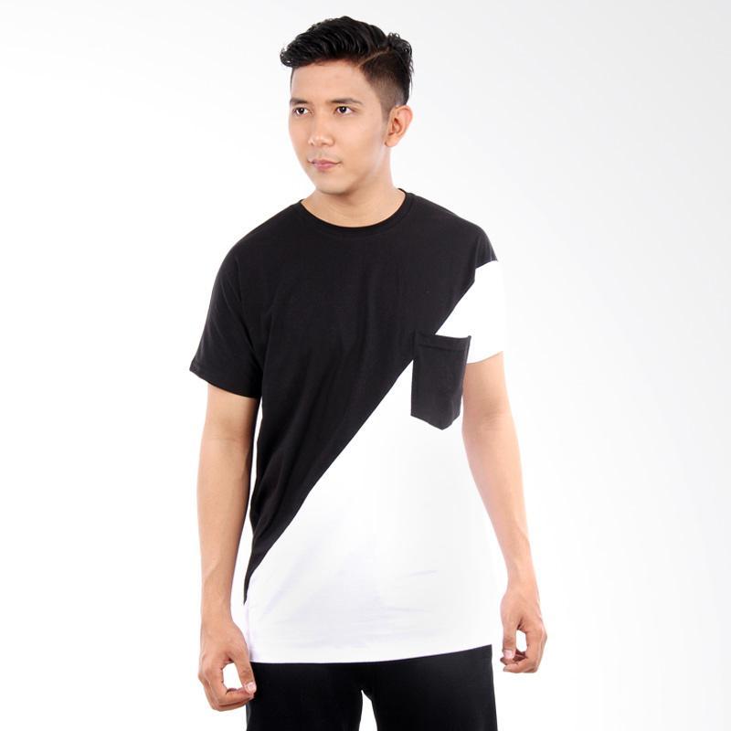 Word.o T-shirt Noir Lengan Pendek Kaos Pria - Hitam