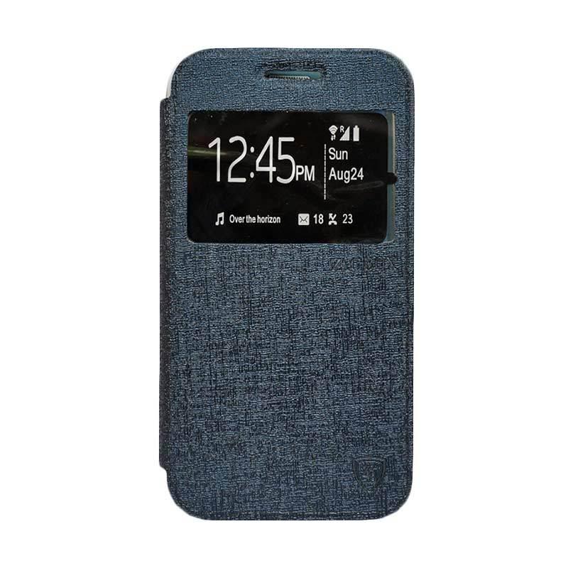 Zagbox Flip Cover Casing for Asus Zenfone Go 4.5 Inch - Biru Dongker