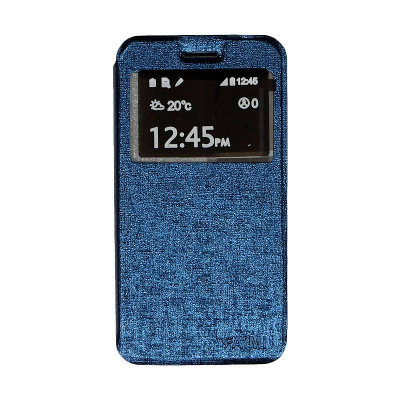 Aimi Flip Cover Casing for Smartfren Andromax B - Navy