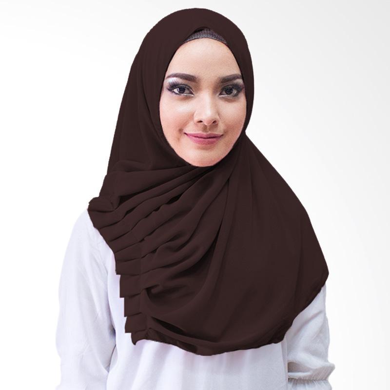 Milyarda Hijab Aliqa Kerudung Instan - Coklat