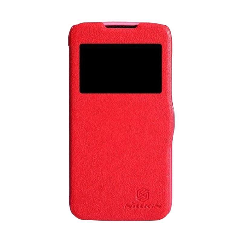 Nillkin Fresh Flip Cover Casing for Lenovo A516 - Red