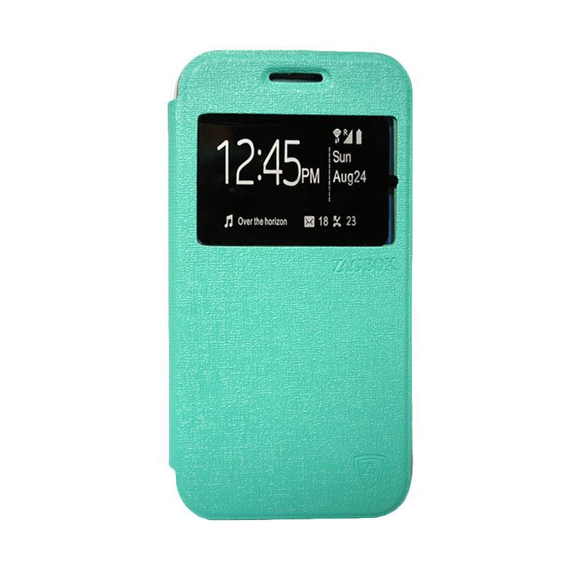 Zagbox Flip Cover Casing for Samsung Galaxy J710 2016 - Hijau Tosca