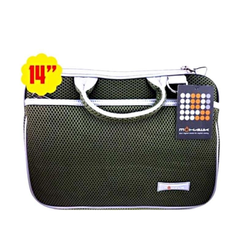 Mohawk 3008 Notebook Softcase Tas Laptop - Green [14 Inch]