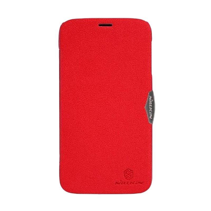 Nillkin Fresh Flip Cover Casing for Lenovo A850 - Red