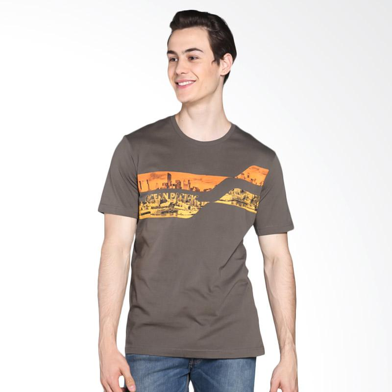 Ocean Pacific Young Mens Tshirt - Olive 03MTY03466