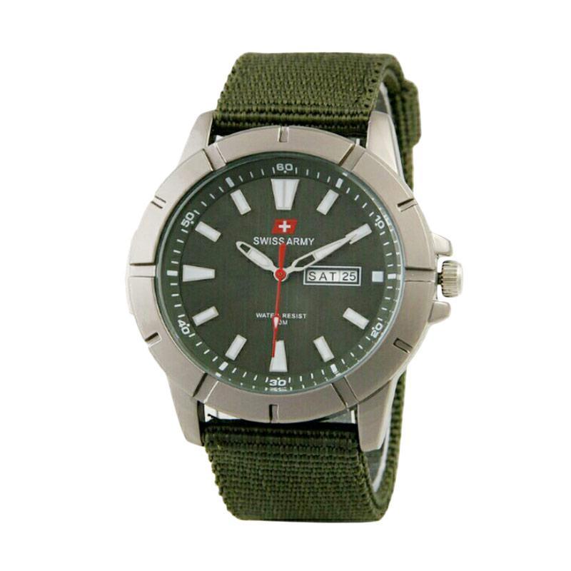 Swiss Army SA746 Jam Tangan Pria - Hijau Putih