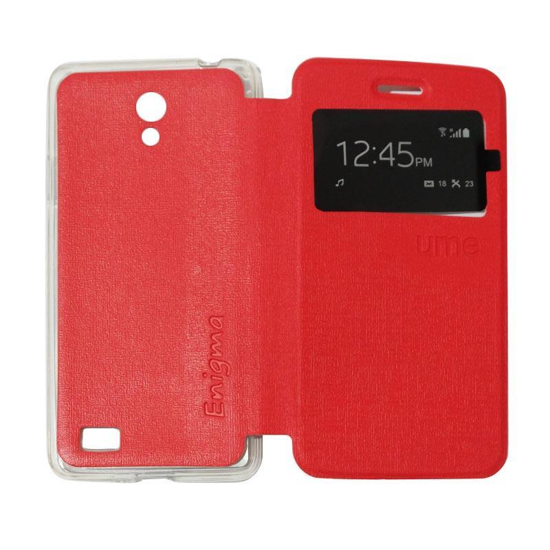 Ume Flipshell Flipcase Flip Cover Casing for Oppo Joy 3 / Joy3 / A11W / A11 - Red