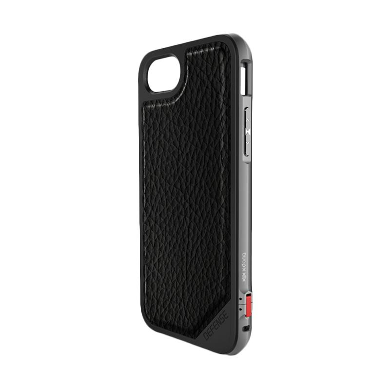 X-doria Defense Lux Casing for iPhone 7 - Black Leather