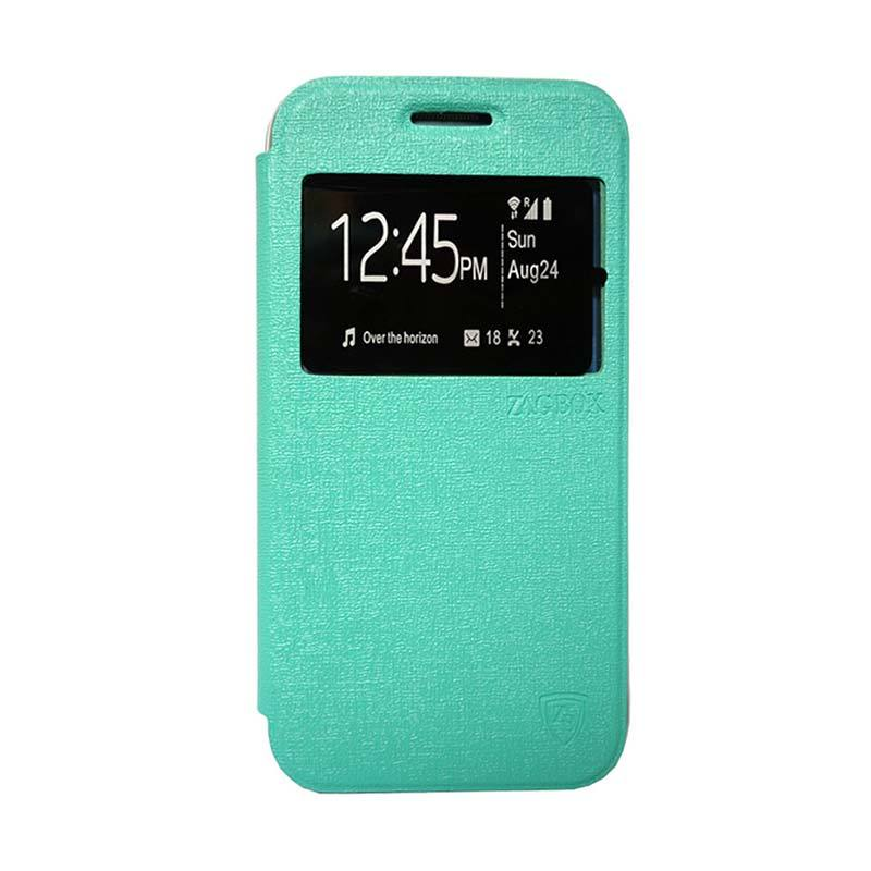 ZAGBOX Flip Cover Casing for Samsung Galaxy A310 A3 2016 - Hijau Tosca