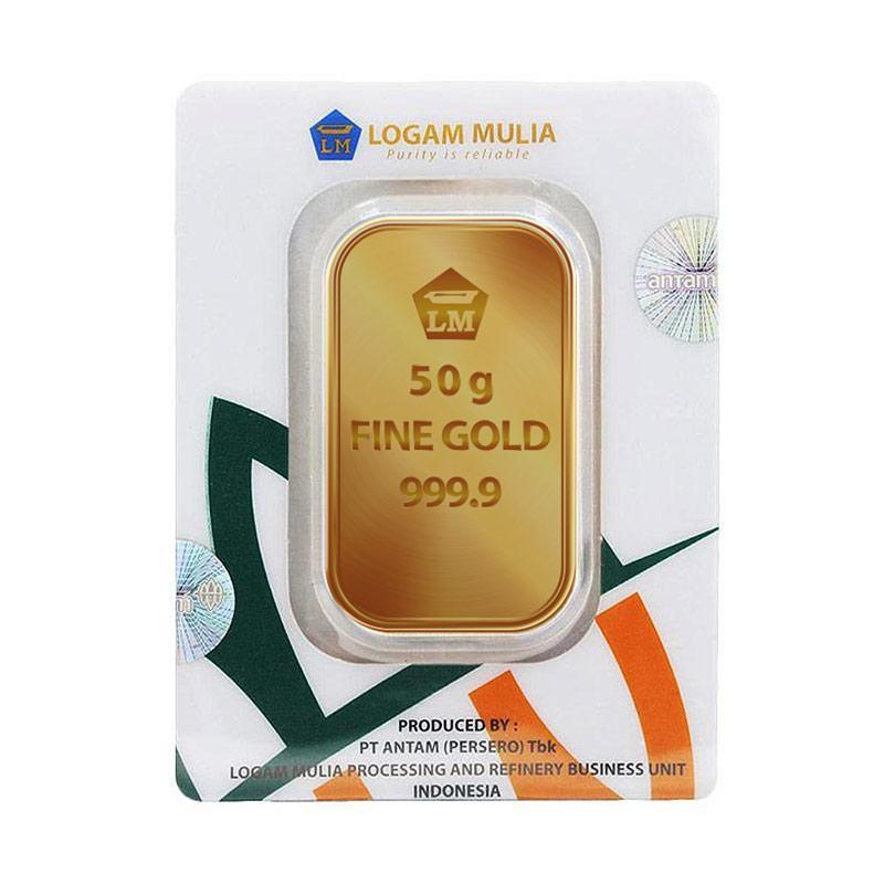 Antam Logam Mulia Keping Emas [50 g/ 999.9% Fine Gold Certificate]