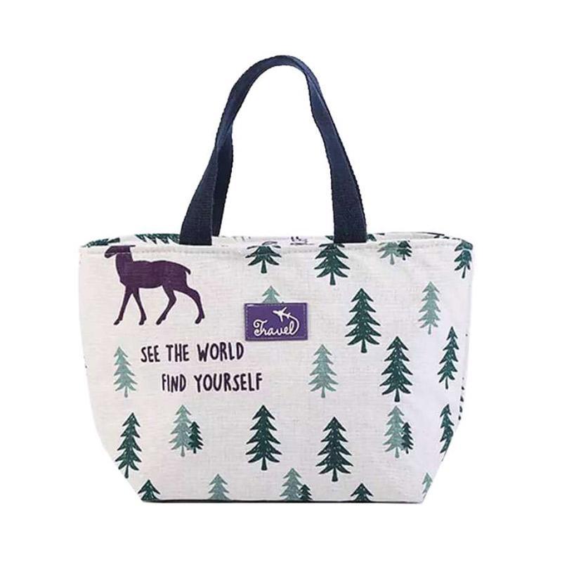 Permana Collection Rusa dan Pohon Cooler Tote Bag