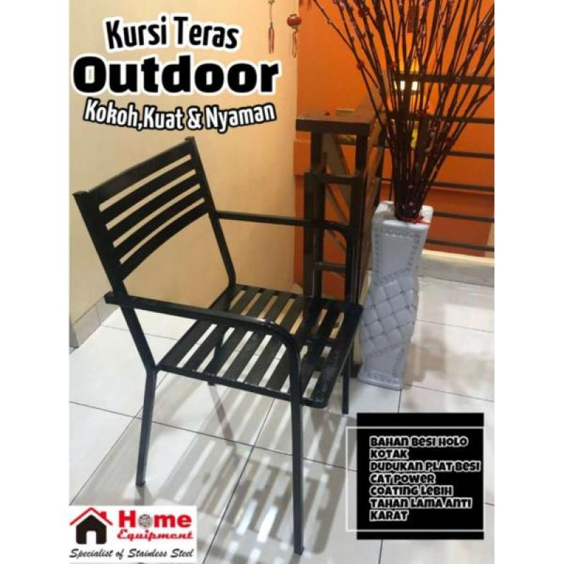 Jual Kursi Teras Kursi Cafe Kursi Resto Outdoor Holo Besi Kotak Cat Coating White Snow Online November 2020 Blibli Com