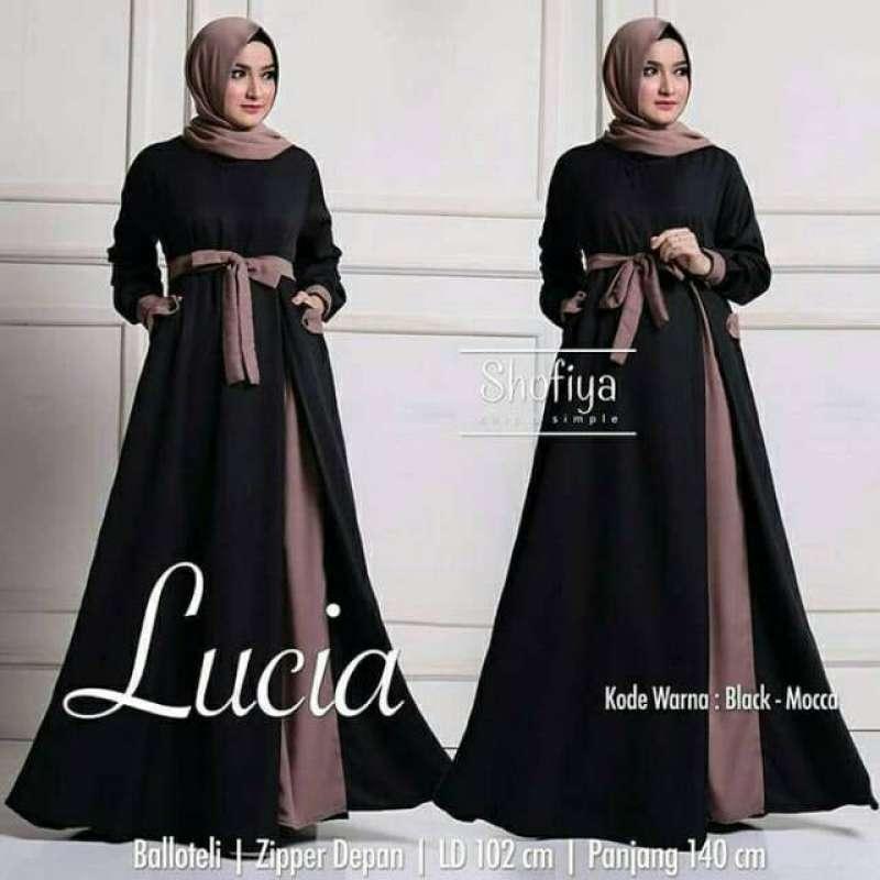 Jual Baju Gamis Wanita Muslim Terbaru Lucia Dress Polos Syari Online Maret 2021 Blibli