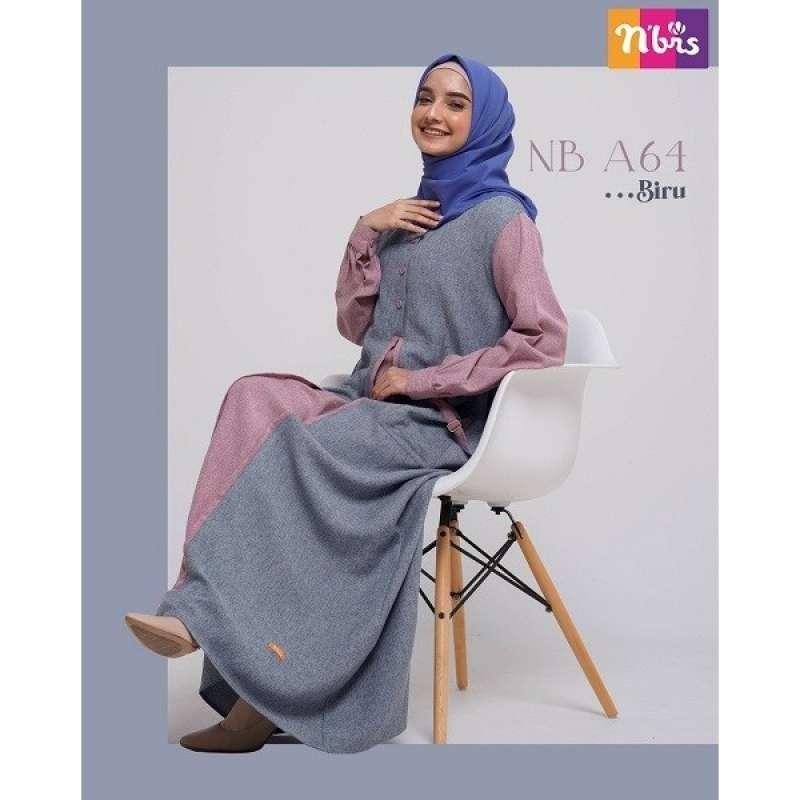 Jual Gamis Nibras Nb A64 Baju Gamis Wanita Dewasa Muslim Syari Murah Terbaru 2020 Online Januari 2021 Blibli