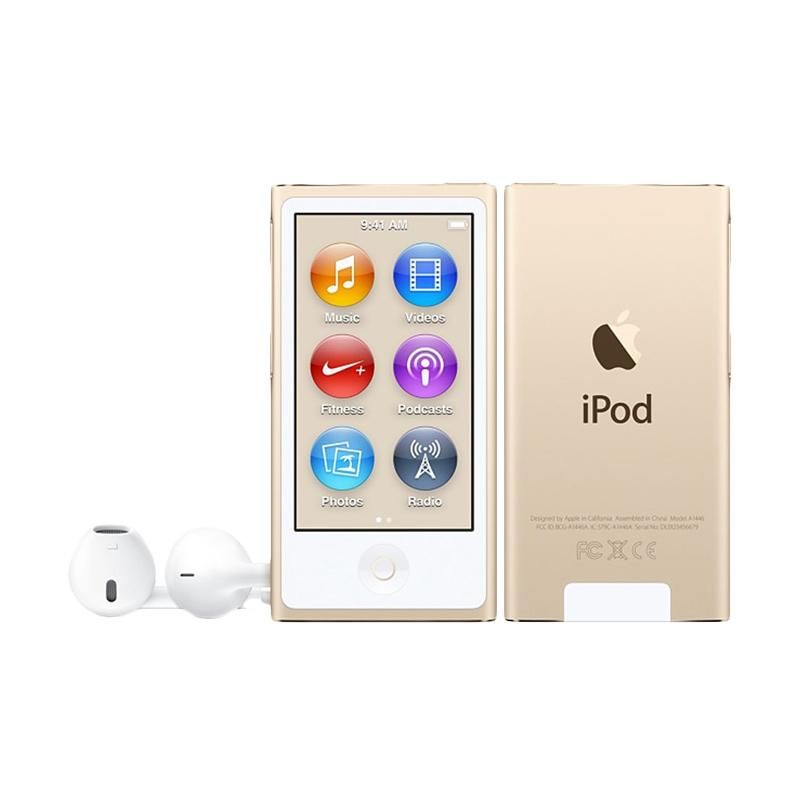 harga Apple iPod Nano 7th Gen 16 GB Portable Player - Gold Blibli.com