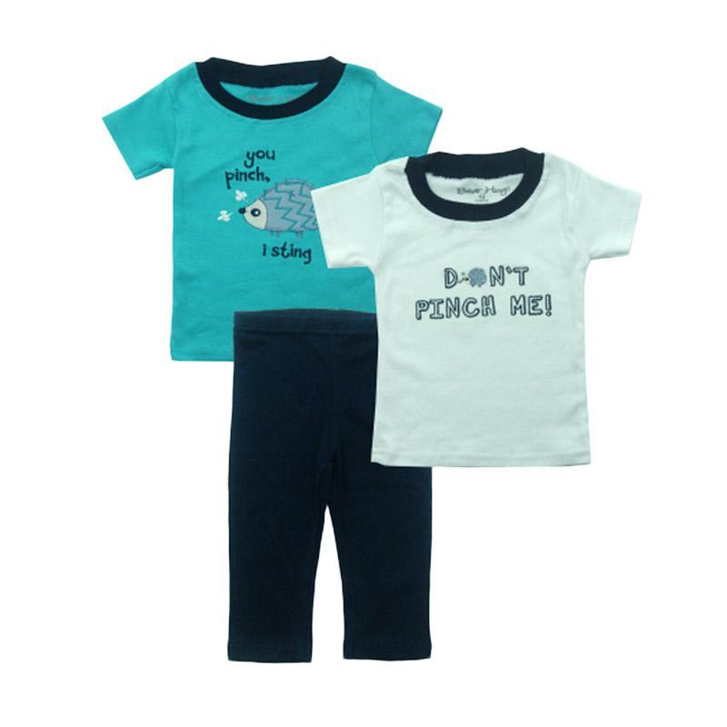Bearhug 3 Pieces Landak Set Bayi Laki-laki - Hijau [12-24 Month]