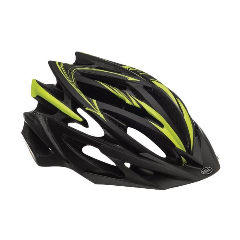 harga Bell Helmet BS Volt Script L 14 US Helm Sepeda - Mate Black Yellow 7039419 Blibli.com