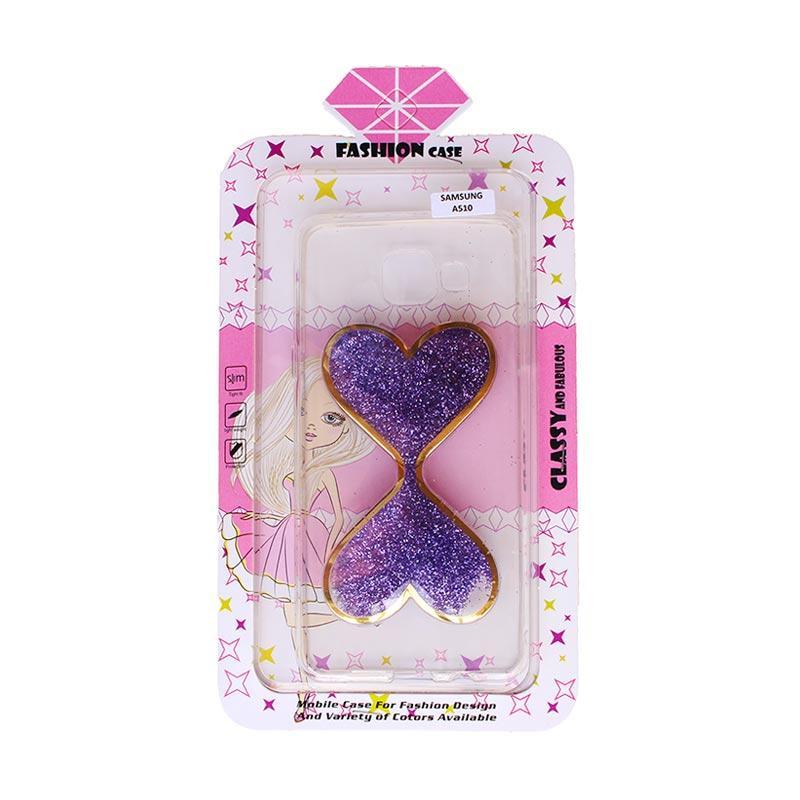 Fashion Case Gliter Love Casing for Samsung A510 - Purple