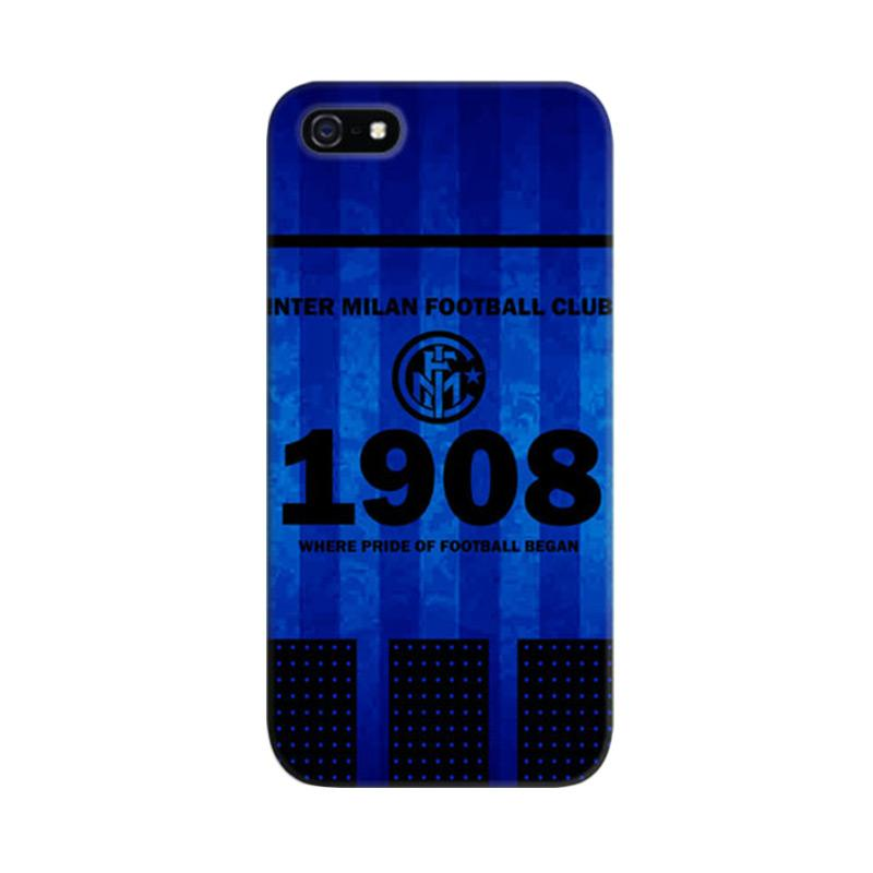 Indocustomcase Inter Milan FC Cover Casing for iPhone 5/5S/SE