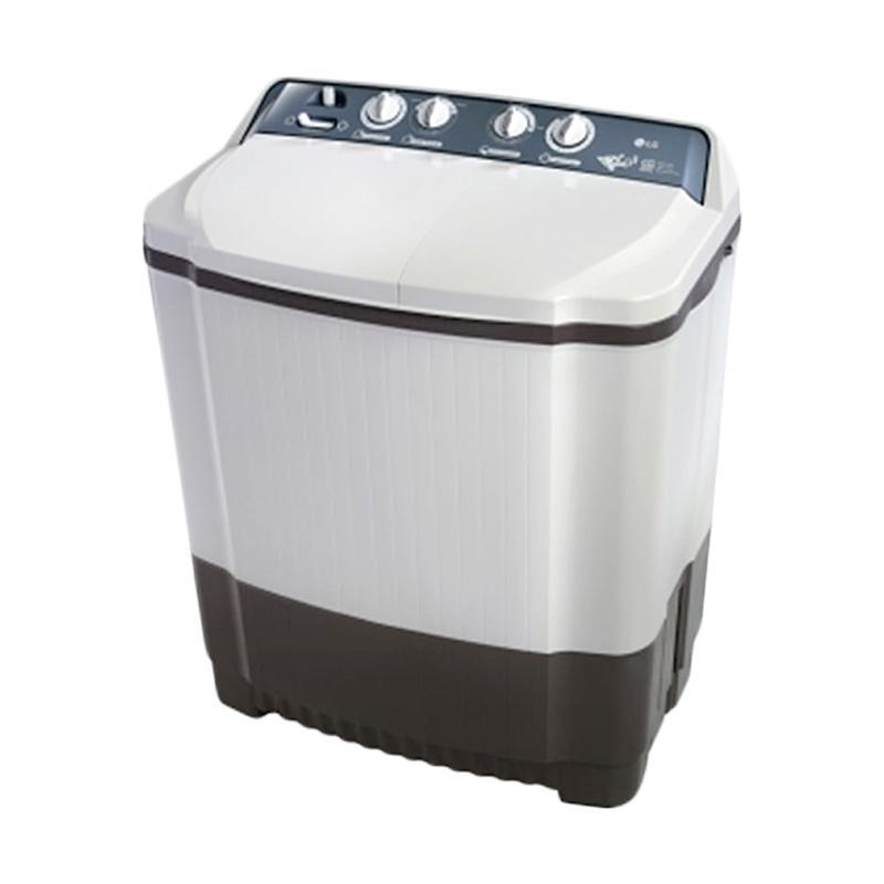 LG P850R Semi Auto Washer Twin Tub Mesin Cuci - Putih [8.5 kg]