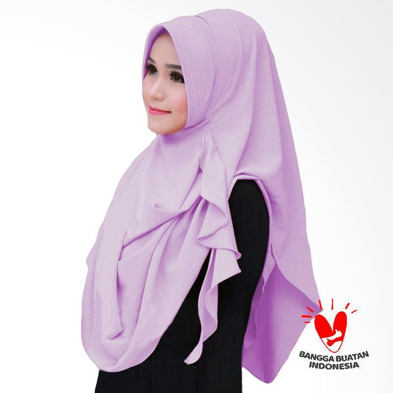 Milyarda Hijab Flowing Pad Kerudung Instant - Lavender