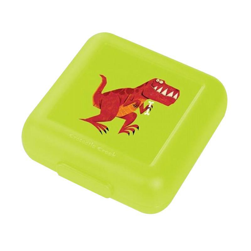 Crocodile Creek Sandwich Keeper Kotak Makan - Green T-rex