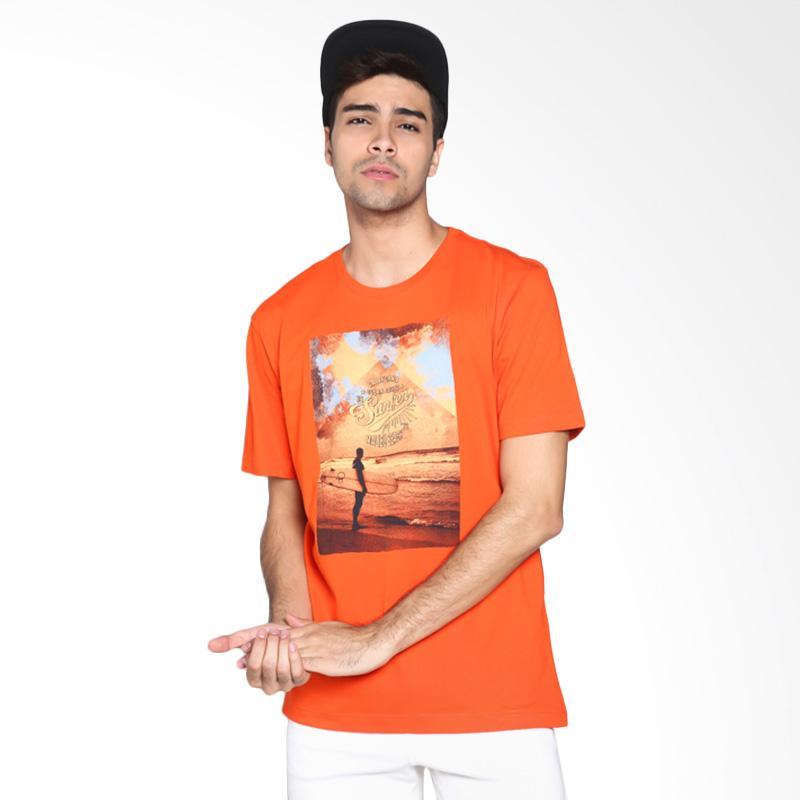 Ocean Pacific Fashion 03MTF92487 Mens T-Shirt - Orange