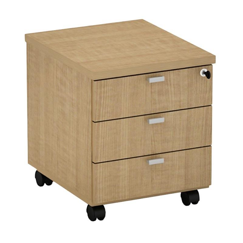 Prissilia Rafaela 3 Drawers Walnut Classic