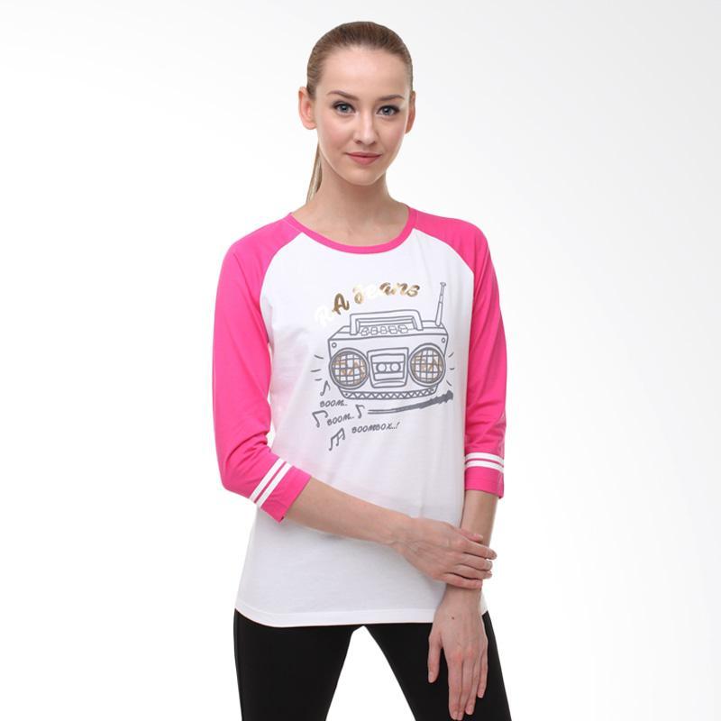 harga RA Jeans Ladies Radio RAW 5 117MG LS T-Shirt - Pink Blibli.com