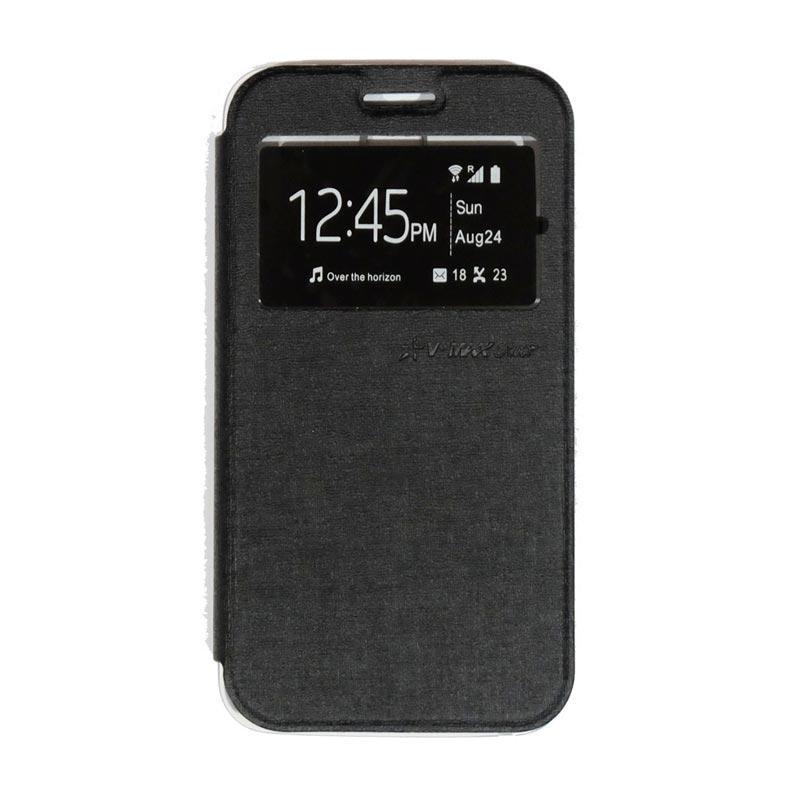 UME Flipshell Flip Cover Casing for Advan S5E NXT - Black