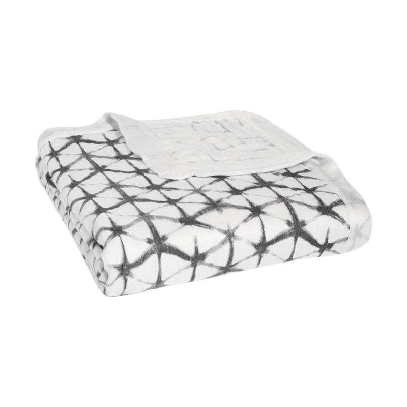 Aden+Anais - Silky Soft Dream Blanket - Pebble Shibori - Selimut Bayi dan Anak