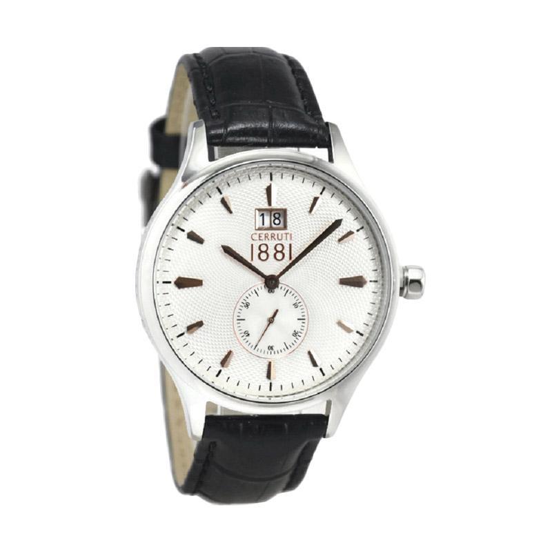 Cerruti CRA102A252K-1 Jam Tangan Pria - Hitam Silver