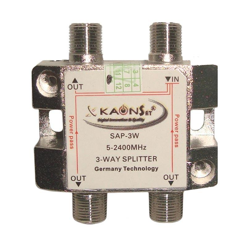 Kaonsat KSAP-3W 3 Way Splitter for TV Kabel [5-2400 Mhz]