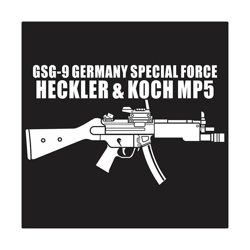 Kyle Heckler & Koch HK MP5 With Flashlight Cutting Sticker