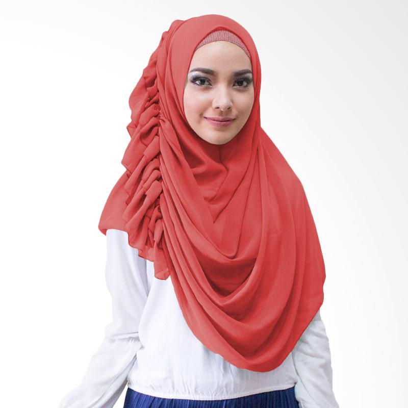 Milyarda Hijab Ravika Kerudung Instan - Merah